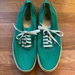 "Men's Vans ""off the wall"", sz 13, euc, green."